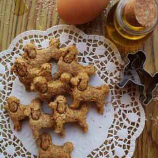 Biscotti con olio di oliva, a forma di cagnolino
