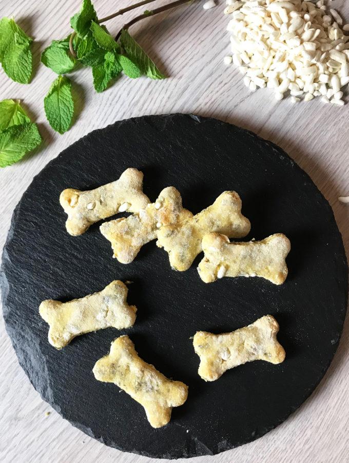 biscotti alla menta e riso soffiato